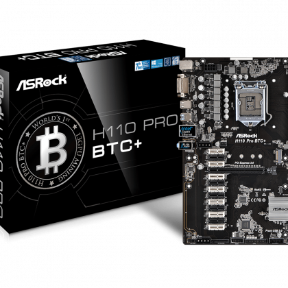 ASRock H110 Pro BTC+ Mining Motherboard with 13 PCI Express Slots